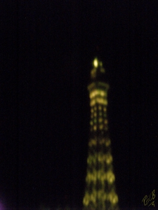 Mini Eiffel Las Vegas -- At Night