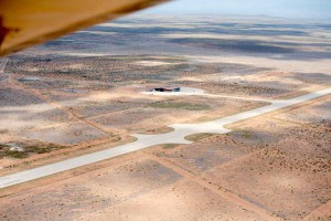 Aerrial view of Spaceport America as we come in for a landing at their openhouse fly-in event